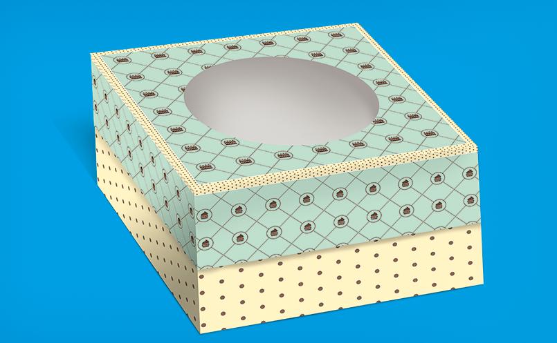 opakowania dla cukierni - pudełka do tortu zadrukowane