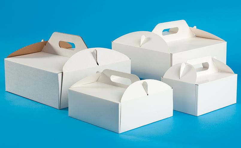 opakowania dla cukierni - pudełka do tortu z rączką