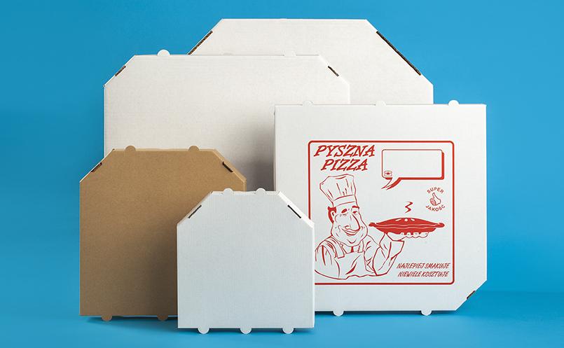 kartony do pizzy - pudełka do pizzy ścięte
