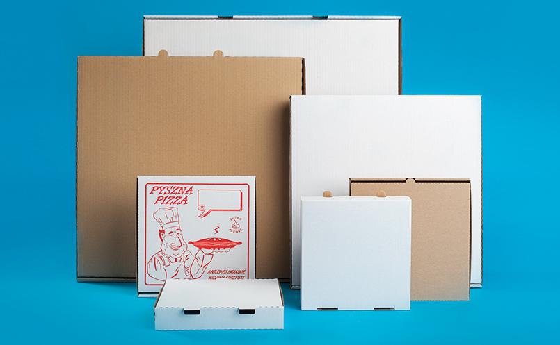 kartony do pizzy - pudełka do pizzy proste